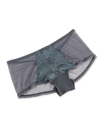Delano Balconette Bra & Hot Pants, Anthracite
