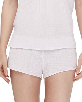 Shaw Cotton Gauze Lounge Shorts, Shell