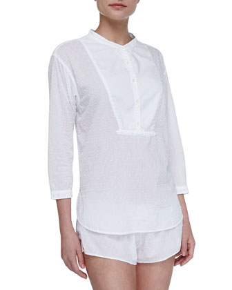 Hadley Cotton Poplin Sleep Shirt, White
