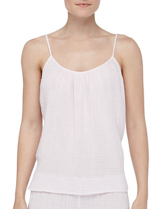 Kora Cotton Gauze Lounge Tank, Shell