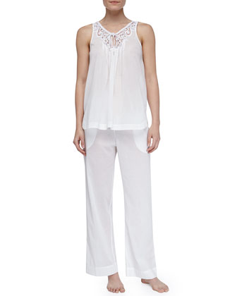 Filigree Garden Cotton Lawn Tank Pajamas