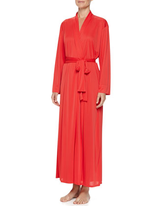 Aphrodite Long Knit Robe, Sunkissed Coral