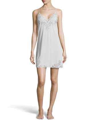 Feathers Lace Jersey Chemise, Ash