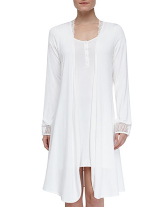 Studio Julianna Short Robe, Ivory