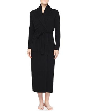 Cashmere Long Robe, Black