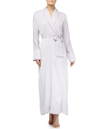 Tissue Crepe Long Robe, Dusk