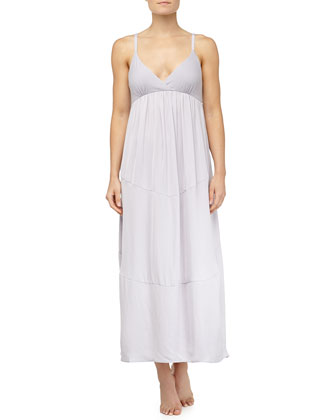 Tissue Crepe Long Gown, Dusk