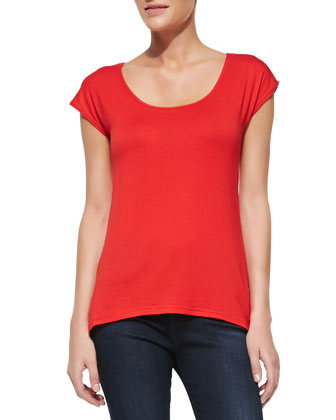 Josie Short-Sleeve Tee, Red