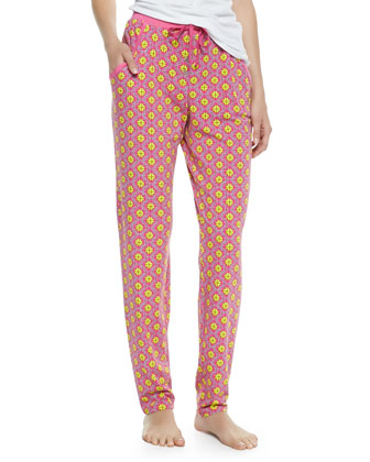 Madame Foulard Lounge Pants, Pink
