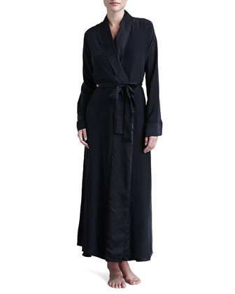 Glamour Long Silk Robe