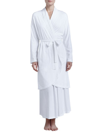 Pima Cotton Robe, White