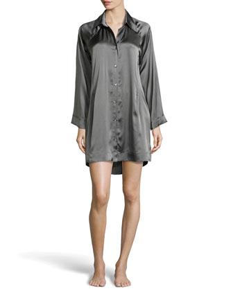 Glamour Silk Sleepshirt, Mineral