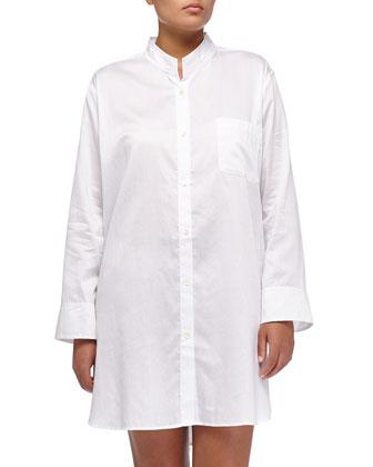 Voile Sleepshirt, White