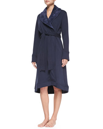 Duffield Shawl Collar Robe, Navy