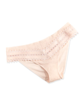 Murano Lattice Lace Briefs, Blush