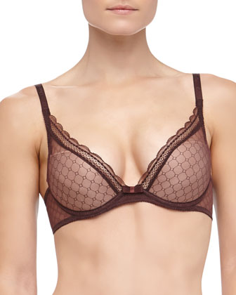 C Chic Convertible Push-Up Bra, Brown