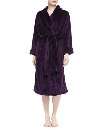 Imperial Plush Pile Robe, Deep Purple