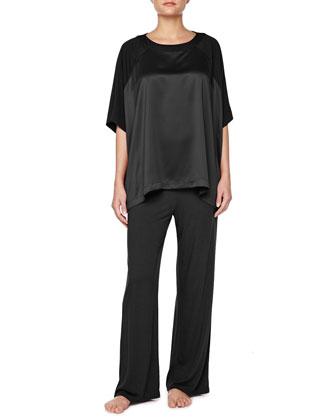 Shangri-La Lace-Trimmed Lounge Pajama Set,
