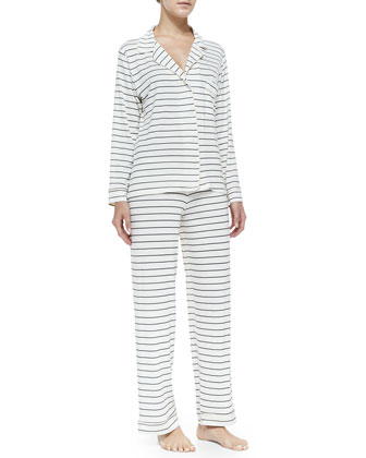 Sleep Chic Striped Pajama Set, Graphite