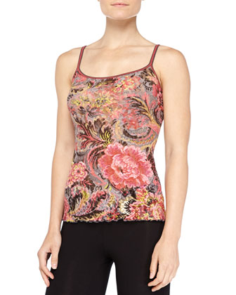 Tapestry Floral-Print Lace Cami