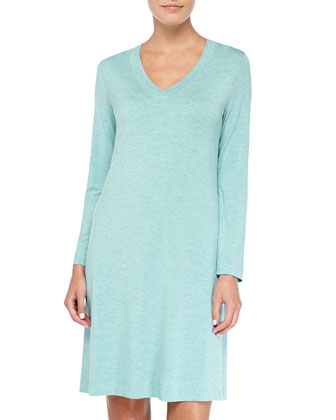 Champagne Soft Jersey Short Nightgown, Arctic