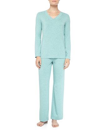 Champagne Stretch Jersey Pajama Set, Arctic