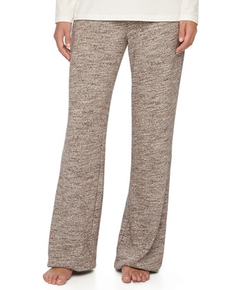 Maryloue Marled-Knit Wide-Leg Pants, Java