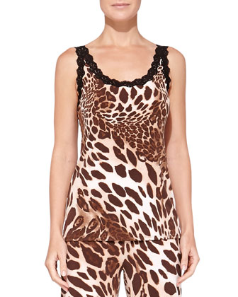 Lace-Trimmed Animal-Print Camisole & Pants