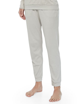 Cashmere-Blend Soho Drawstring Pants, Pergament