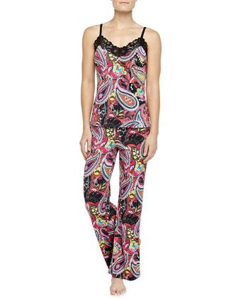 Anya Paisley-Print Cami Pajama Set