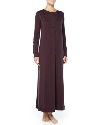 Bronx Mercerized Cotton Gown, Raisin