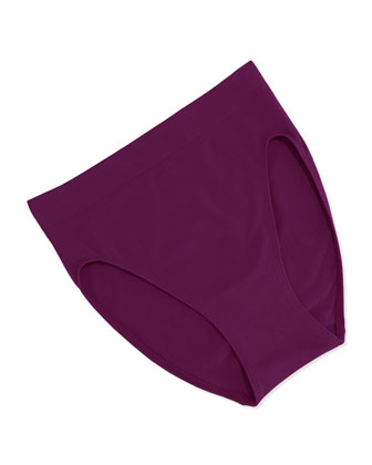 B-Smooth High-Cut Briefs, Dark Purple