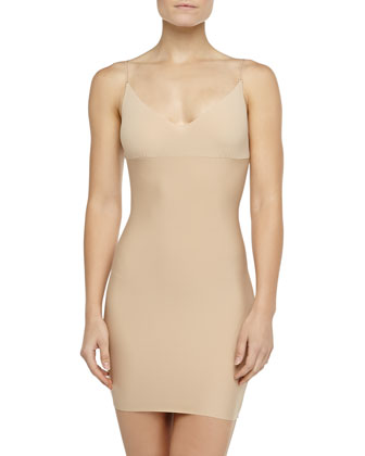 Double-Faced Mini Slip, Nude