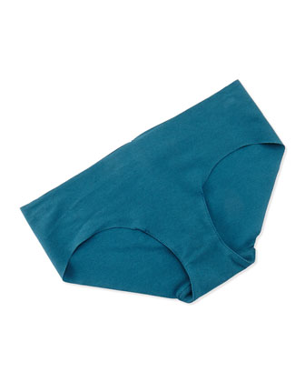 Seamless Cotton Bikini Briefs, Peacock
