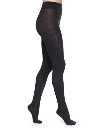 Soft Wool-Blend Knit Tights