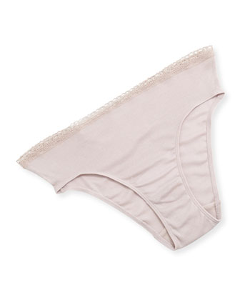 7th Avenue High-Cut Silk Jersey Briefs, Rose Dawn