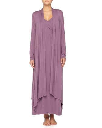 Liquid Jersey Wrap Robe, Purple Twilight