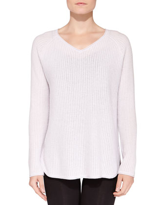 Cashmere Mini Cable-Knit Pullover
