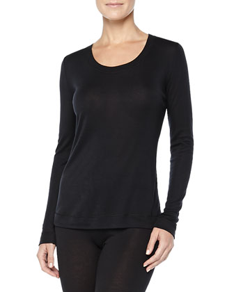 Cashmere/Silk-Blend Long-Sleeve Shirt & Leggings