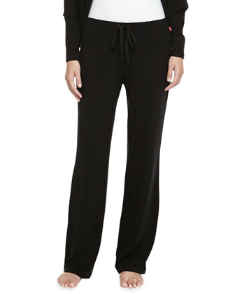 Peachy Jersey Cocoon Sweater & Drawstring Pants, Black