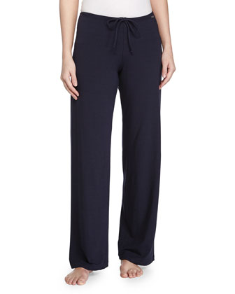 Cotton-Blend Lounge Pants, Blue