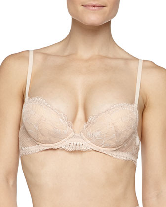 Begonia Lace Push-Up Bra, Powder