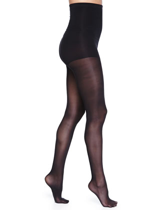 Evolution Semi-Sheer Control-Top Tights, Black