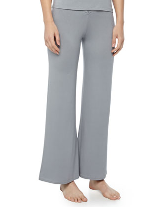Sadie Cinched Wide-Leg Pants, Storm Cloud