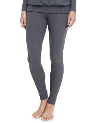 Cozy Time Brushed Jersey Leggings, Gunmetal