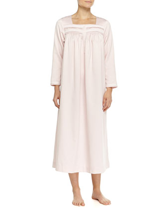 Cozy Elegance Sateen Long Gown, Pink