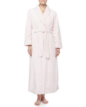 Plush Tapestry Embossed Long Robe