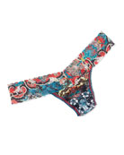 Chinois Low-Rise Lace Thong, Multicolor