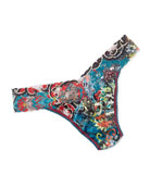 Chinois Original-Rise Lace Thong, Multicolor