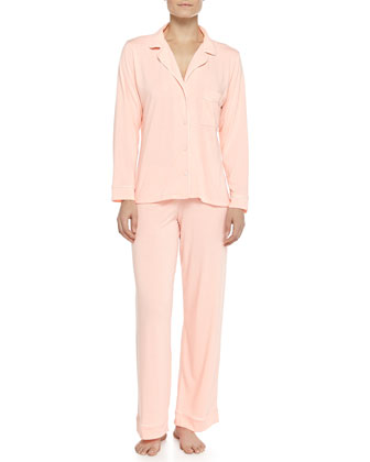 Gisele Long Pajama Set, Orange Sherbet